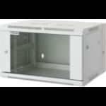 "Intellinet Network Cabinet - Wall Mount Double Section, 15U, 550mm Depth, Grey, Assembled, Max 30kg, 19"", Three Year Warranty"