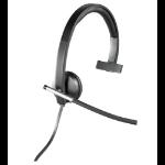 Logitech H650e Mono USB Monoaural Diadema Negro auricular con micrófono