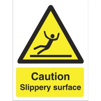 Stewart Superior Caution Slippery Surface Sign
