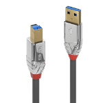 Lindy 36661 USB cable 1 m 3.2 Gen 1 (3.1 Gen 1) USB A USB B Chrome,Grey
