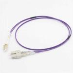 C2G 15M LC/SC OM4 LSZH FIBRE PATCH - VIOLET fiber optic cable