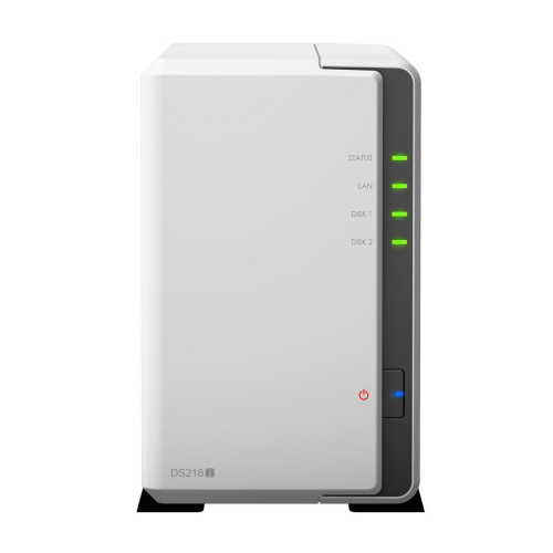 Synology DS218J 6TB 2 Bay NAS Solution - 2 x 3TB Seagate IronWolf Drives