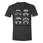 STAR WARS Men's Rogue One The Galactic Empire T-Shirt, Small, Anthracite (TS003ROG-S)
