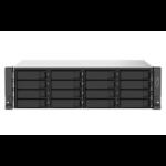 QNAP TS-1673AU-RP-16G data-opslag-server NAS Rack (3U) Ethernet LAN Zwart, Grijs V1500B