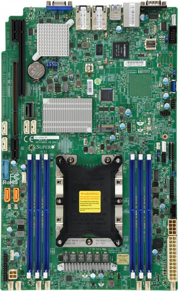 Supermicro X11SPW-TF server/workstation motherboard LGA 3647 Socket P Intel C622