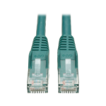 Tripp Lite Cat6 Gigabit Snagless Molded Patch Cable (RJ45 M/M) - Green, 0.31 m networking cable
