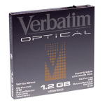"Verbatim 5.25"" 1.2GB Write-Once MO Disk 5.25"" magneto optical disk"