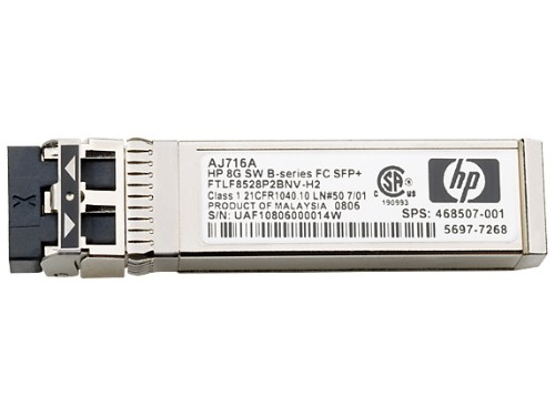 Hewlett Packard Enterprise StoreVirtual 3000 16Gb 2-pack Short Wave Fibre Channel SFP+ network transceiver module 16000 Mbit/s SFP+