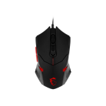 MSI Interceptor DS B1 mice USB Optical 1600 DPI Ambidextrous Black,Red