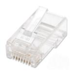 Intellinet 100-Pack Cat5e RJ45 Modular Plugs Jar, UTP, 2-prong, for Stranded Wire (790055)