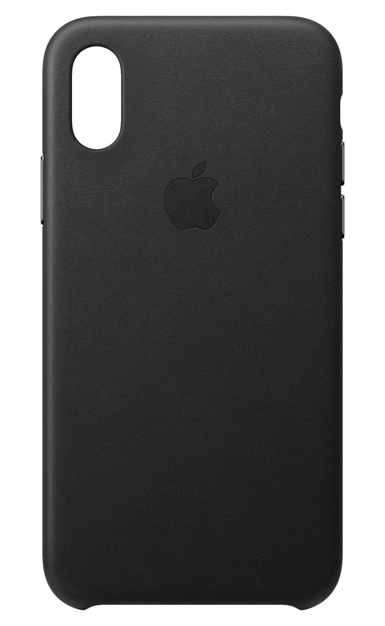 iPhone Xs - Leather Case - Black