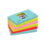 Post-It 655-6SS-MIA self-adhesive note paper Rectangle Aqua colour,Lime,Pink,Red 90 sheets