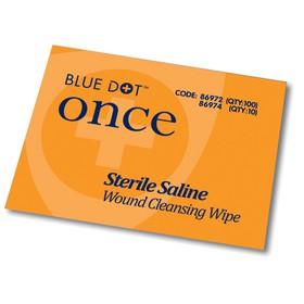 Crest Medical Blue Dot Sterile Saline Wipes PK100
