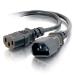 C2G Alargo de cable de alimentación de ordenador de 1,2 m 16 AWG 250 V (IEC320 C13- IEC320 C14)