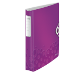 Leitz WOW ring binder A4 Purple