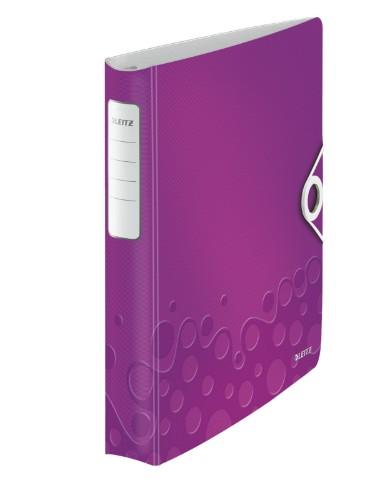 Leitz WOW ring binder A4 Purple
