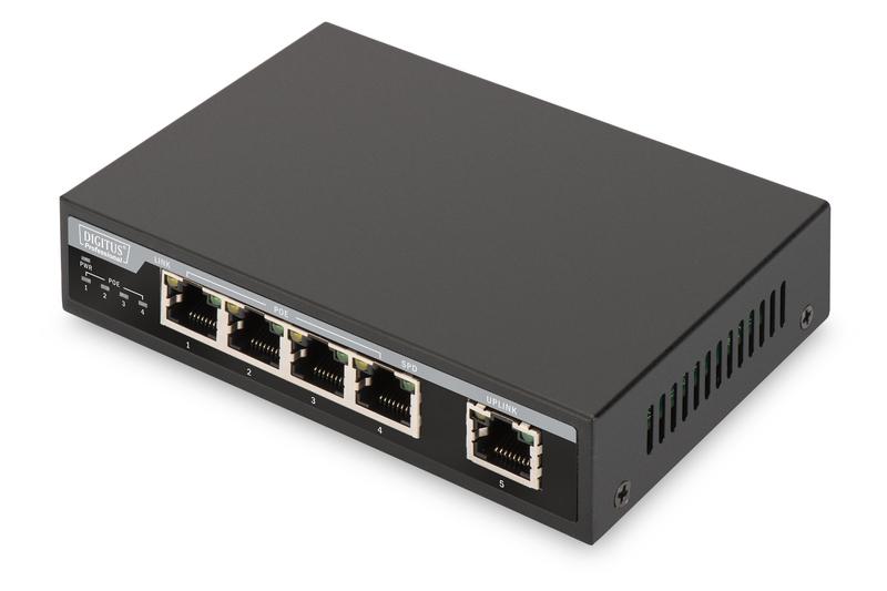 Digitus DN-95320 network switch Fast Ethernet (10/100) Power over Ethernet (PoE) Black