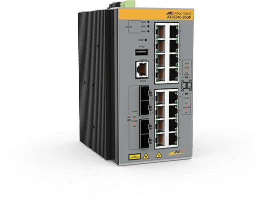 Allied Telesis AT-IE340-20GP-80 Gestionado L3 Gigabit Ethernet (10/100/1000) Gris Energía sobre Ethernet (PoE)