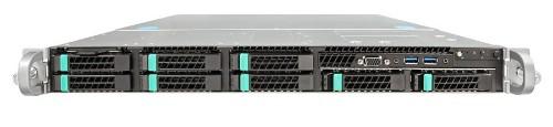 Intel R1208WT2GSR server barebone Intel® C612 LGA 2011-v3 Rack (1U) Black,Silver