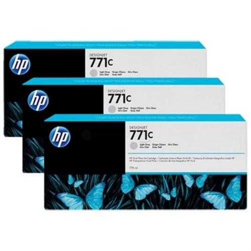 HP B6Y38A (771C) Ink cartridge gray, 775ml, Pack qty 3