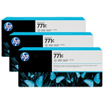 HP B6Y38A (771C) Ink cartridge gray, 775ml, Pack qty 3