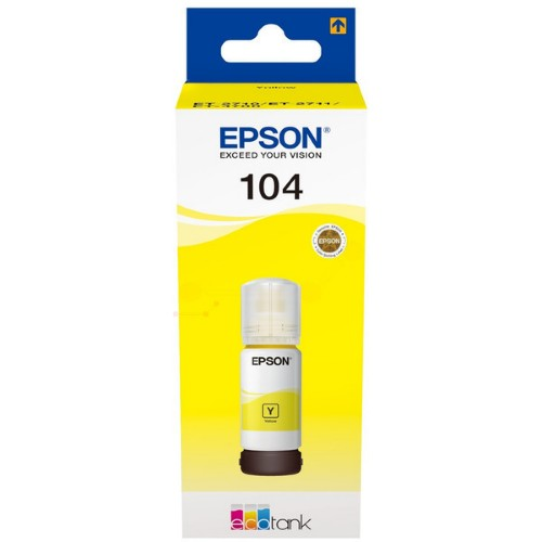 Epson C13T00P440 (104) Ink cartridge yellow, 7.5K pages, 70ml