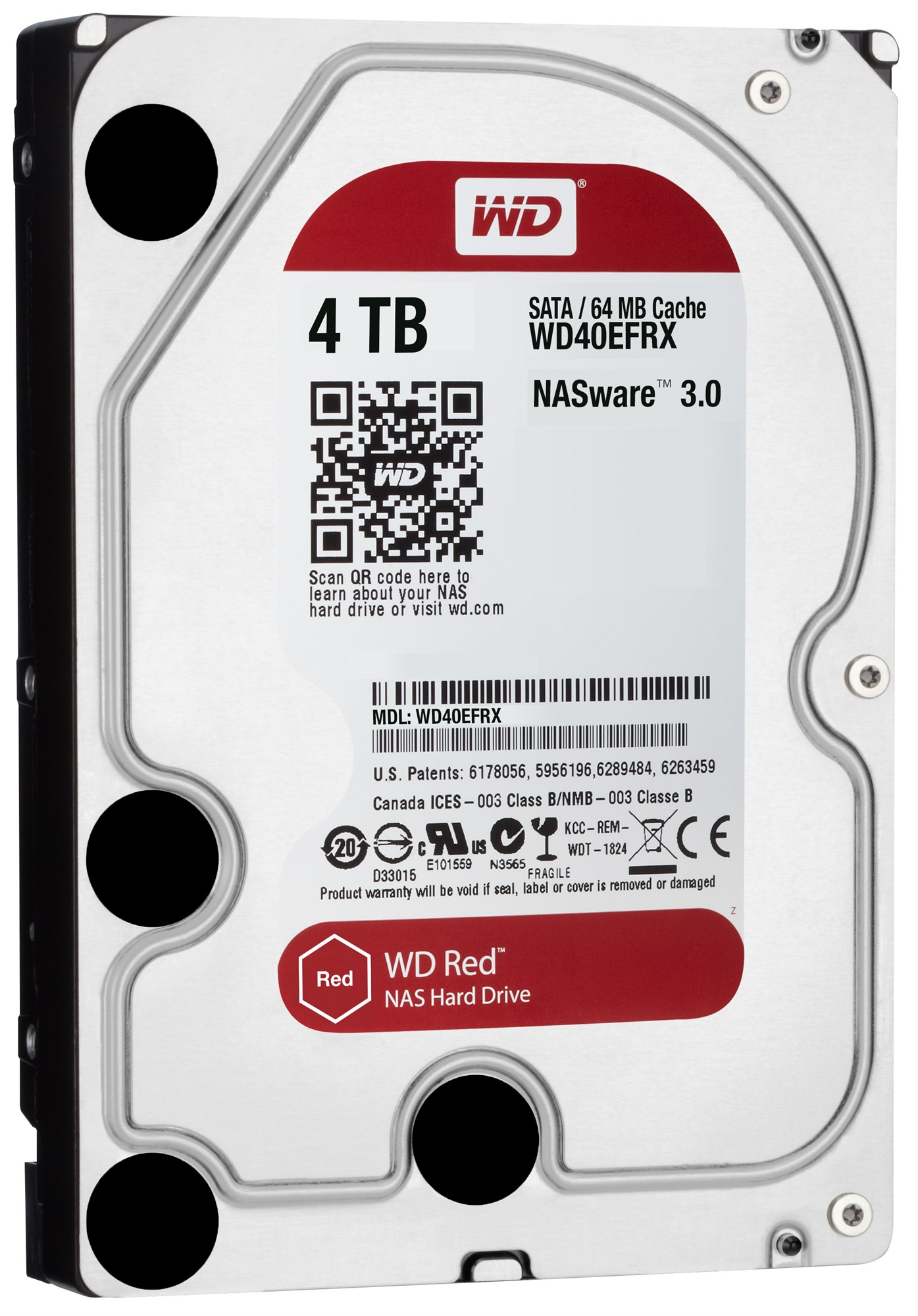 Western Digital Red 4000GB Serial ATA III internal hard drive
