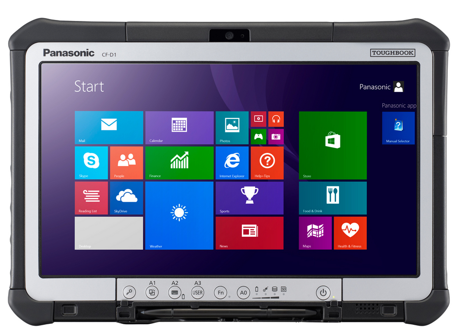Panasonic Toughbook CF-D1 500GB Black,Silver tablet
