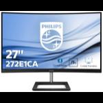 "Philips E Line 272E1CA/00 LED display 68.6 cm (27"") 1920 x 1080 pixels Full HD LCD Curved Matt Black"