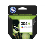 HP N9K07AE (304XL) Ink cartridge color, 300 pages @ 5% coverage, 7ml
