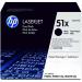 HP Q7551XD (51XD) Toner black, 13K pages, Pack qty 2