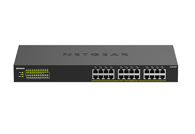 Netgear GS324PP Unmanaged Gigabit Ethernet (10/100/1000) Black Power over Ethernet (PoE)