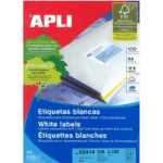 APLI 2414 LABELS A4 21UP ROUND CORNERS 63.5X38.1 100 SHEETS