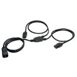 Tripp Lite Y Splitter Computer Power Extension Cord, 10A, 18AWG (IEC-320-C14 to 2x IEC-320-C13)