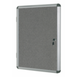 Bi-Office Enclore Grey Felt Lockable Noticeboard 20xA4 DD