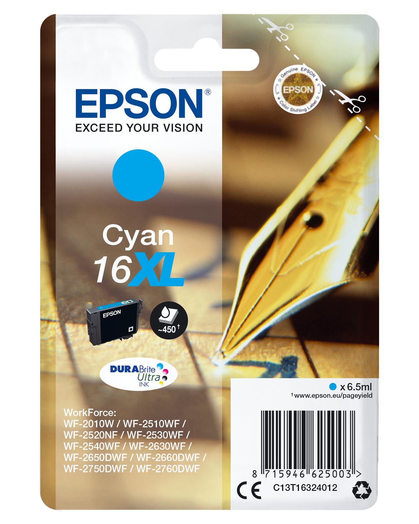 Epson Pen and crossword Cartucho 16XL cian