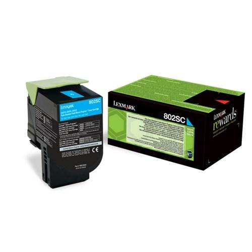 Lexmark 80C2SC0 (802SC) Toner cyan, 2K pages
