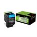 Lexmark 80C2SCE (802SC) Toner cyan, 2K pages