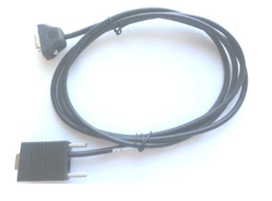 Zebra CBL-58918-02 cable de serie Negro 0,7 m RS232 DB9