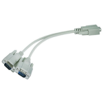 Monoprice 4640 serial cable Gray RS232 2x RS232