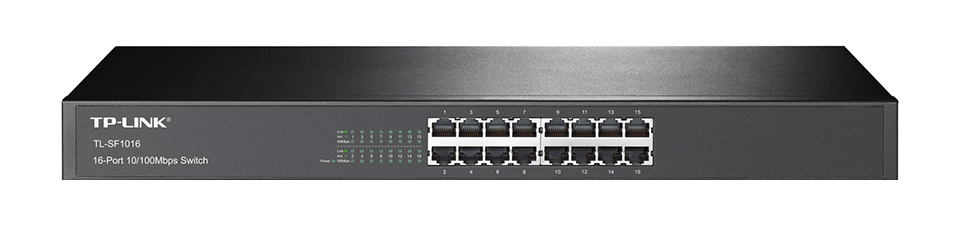 TP-LINK 16-Port 10/100Mbps Fast Ethernet Switch Unmanaged network switch Black