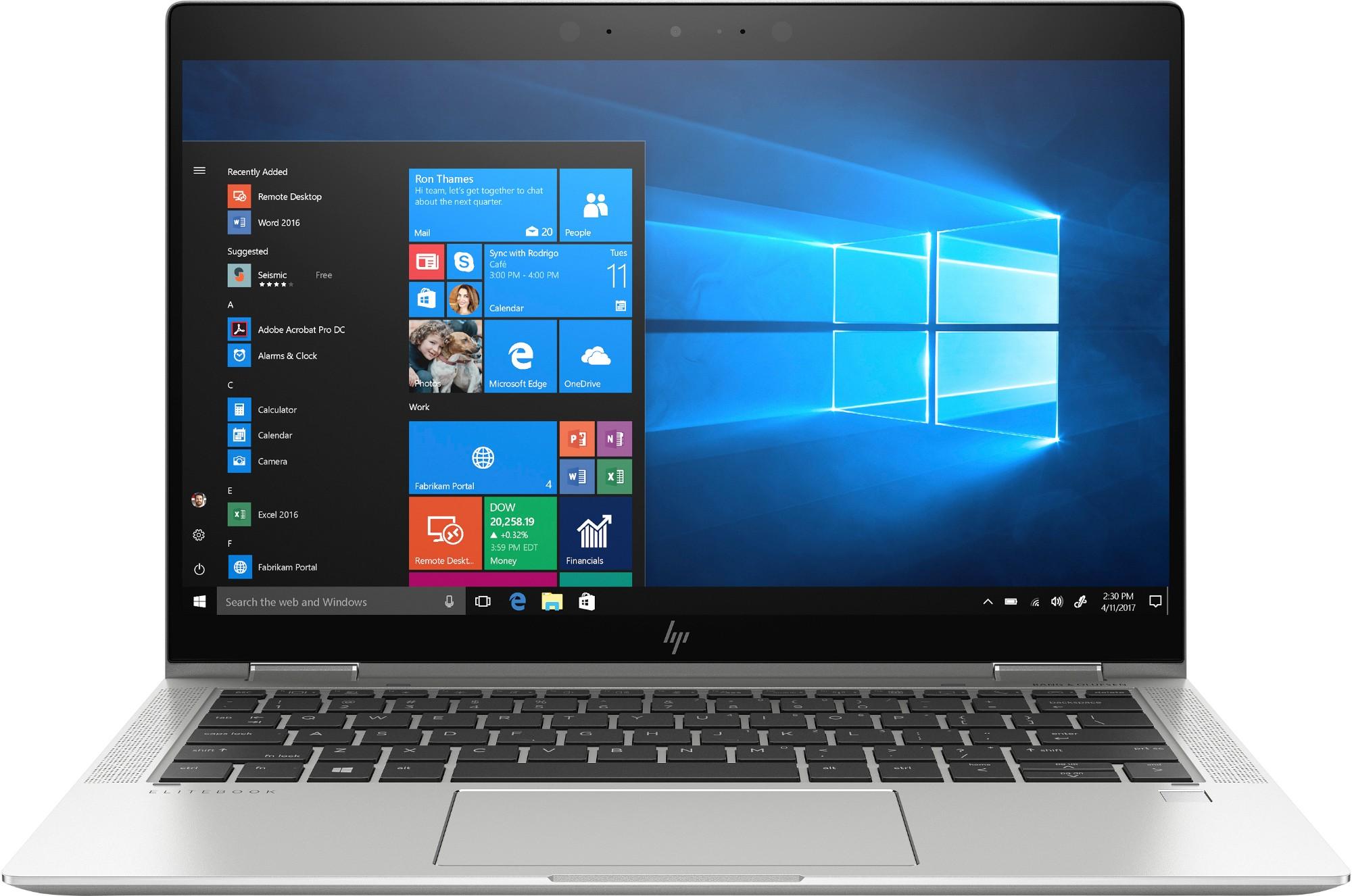 "HP EliteBook x360 1030 G4 Silver Hybrid (2-in-1) 33.8 cm (13.3"") 1920 x 1080 pixels Touchscreen 8th gen Intel® Core™ i5 i5-8365U 8 GB LPDDR3-SDRAM 256 GB SSD Windows 10 Pro"
