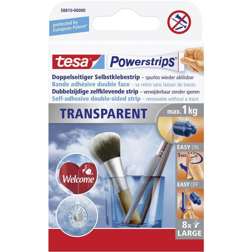 TESA Powerstrips Transparent Large 58810 PK8