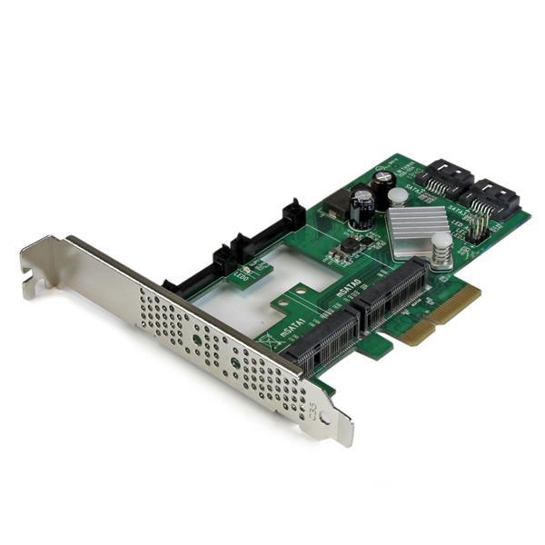 StarTech.com Tarjeta Controladora SATA III RAID PCI Express 2.0 con 2 Ranuras mSATA Emparejamiento HyperDuo para SSD