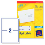Avery J8168-100 self-adhesive label White 200 pc(s)