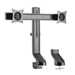 """Tripp Lite DDR1727DC Dual-Display Monitor Arm with Desk Clamp and Grommet - Height Adjustable, 17"""" to 27"""" Monitors"""