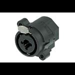 "Neutrik NCJ6FI-S wire connector XLR/1/4"" stereo jack combo Black"