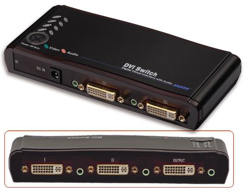 Lindy 4-Port DVI DVI video switch