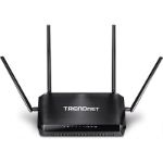 Trendnet AC2600 StreamBoost Gigabit Ethernet Black wireless router