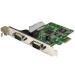 StarTech.com Tarjeta Serie PCI Express de 2 Puertos DB9 RS232 con UART 16C1050 - Adaptador Interno Serie PCI-E